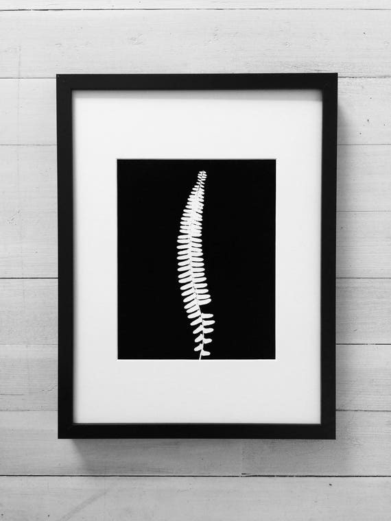 Black fern, Black Botanicals, Sword Fern, art for her, gift for her, Christmas gift, Thanksgiving art, holiday art, art gifts, Christmas art