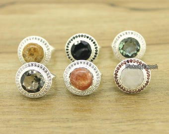 A pure Beauty of Gemstones that gives stunning look and elegance. Handmade 925 Sterling silver ring that you can choice gemstone.