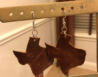 Leather Texas Earrings