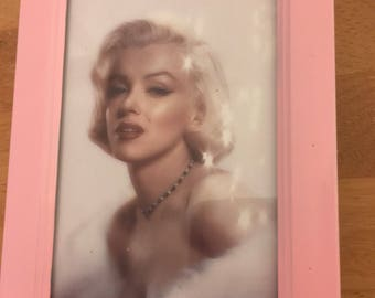 Marilyn Monroe colour print in a pink frame 6x4""