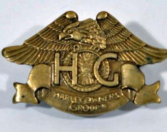 Harley Davidson Owners Group Pin - 1983