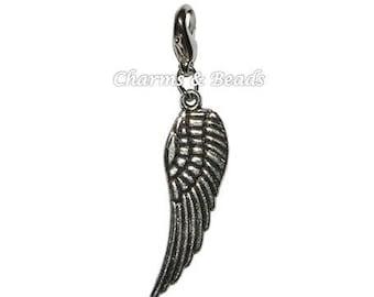 1 charm snap metal wing charm