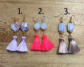 Earrings with Short Tasse...