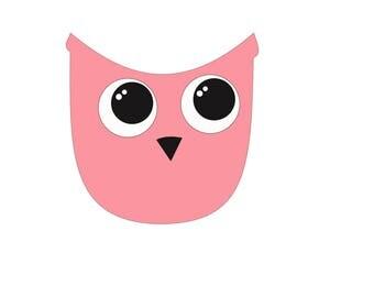 Modern Owl embellishment template