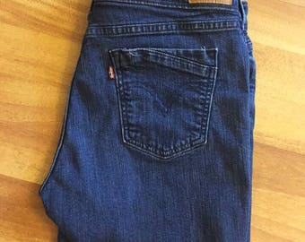 Levi's Blue Shorts Levi mid rise high-waisted 90s mom jeans L Levis blue cut off shorts