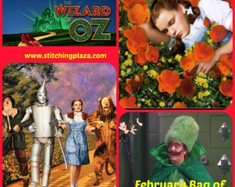 Wizard of Oz Follow the Yellow Brick Road inspired Project Bag of the Month 2018: February Drawstring / Zipper, 1 month subscription