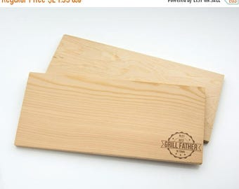"JULY SALE Grill Father Best In Town. Cedar planks for grilling 12"" by 5. 3/16"", Laser cut engraving on wood designed to your needs"