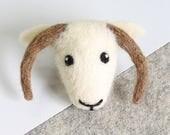 Shetland Sheep Brooch Needle Felting Kit – Needle Felted Animal - Felting Craft Kit – craft kit gift – felt sheep kit – craft kit for adults