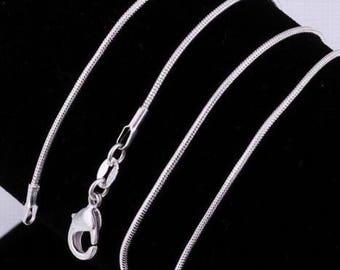 925 Silver diameter 1.2 mm - 45 cm snake chain