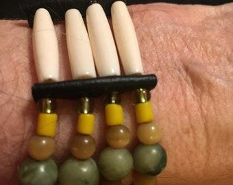Native American 4-strand tribal bracelet.