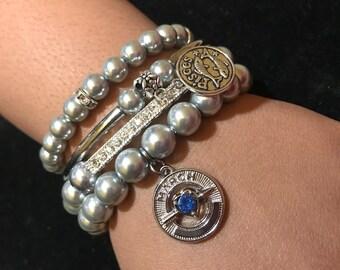 Zodiac stack bracelets