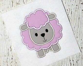 Lamb Applique Design - Sheep Applique Design - Farm Applique Design - Easter Applique Design