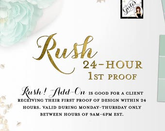 Rush my digital order! Add-On Gvites - Turnaround is 24 hours: Order MUST be placed  Mon-Thu before 6PM EST