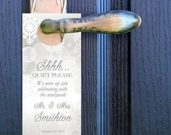 20 custom door hanger sign for wedding welcome bags winter wonderland