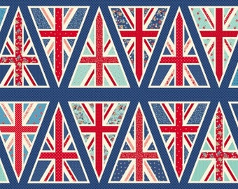 UNION JACK BUNTING ~ Red White Blue Britain United Kingdom Flag National Makower