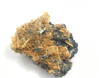 """Rutile Hematite and Quartz Specimen Brazil 60g 2"""" 17rf1024"""
