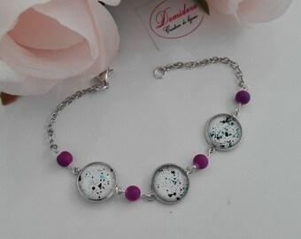 fancy purple bracelet adjustable nickel free