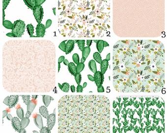 Organic CRIB Bedding - Cactus Blush Floral - Spoonflower - Stokke Sleepi, Mini Crib, Leander, 4moms, Guava Lotus, Bassinet, Crib Bumpers