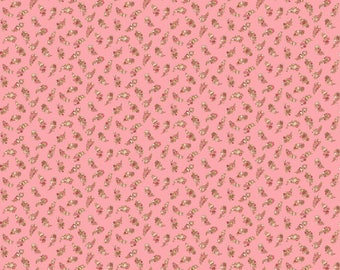 Carlisle - Floral Leaves Pink 8471RE - 1/2yd