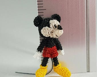 Mickey Mouse, Crochet Amigurumi Miniature