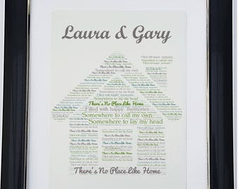 Personalised New Home Framed Word Art Print