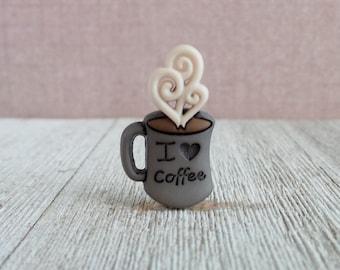 Coffee - Espresso - Latte - Coffee Shop - Barista - Apron Pin - Lapel Pin