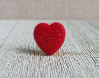 Love - Heart - Red Velvet - Valentine - Wedding - Marriage - Lapel Pin