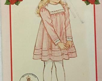 Butterick Pattern 4827 Childs Dress Strawberry Shortcake Fashions UNCUT Size 2-3-4