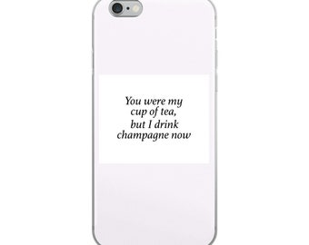 I Drink Champagne Pink iPhone Case