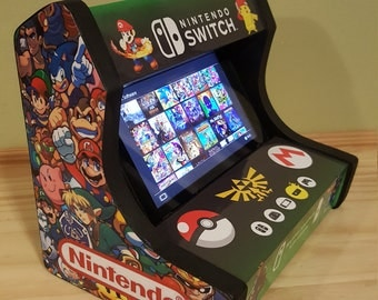 Custom Arcade Cabinet dock stand for the Nintendo switch