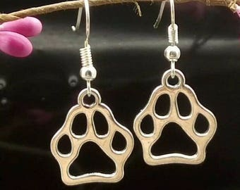 Animal paw print earrings