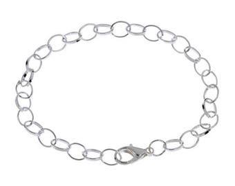 X 1 metal silver to create 20cm Bracelet