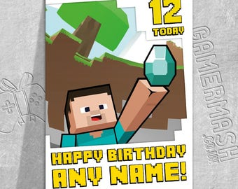 Personalised Birthday Card - Video Game Themed
