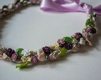 Purple Floral Headband