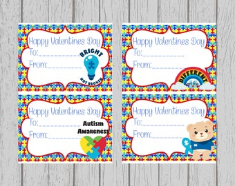 Autism Valentine's Day Cards