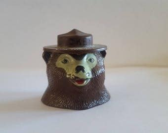 """Vintage late 1950's to 1960's Smokey Bear """"Snuffit"""" Prevent Forest Fires, car collectible,  automobilia dashboard decoration"""