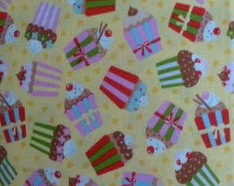 CLEARANCE SALE Cherry On Top ~Cupcakes~ Cotton Fabric~Moda 32702~Fast Shipping N318