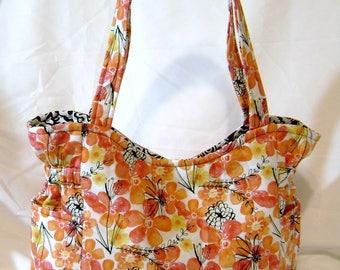 Quilted Handbag - Handmade Handbag - Fabric Handbag - Handmade Purse - Quilted Purse - Fabric Purse - One Of a Kind - HP5