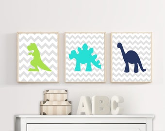 Dinosaur Wall Art | Etsy