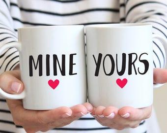 Mine And Yours Mugs, Relationships Mugs, Wedding Mugs, His And Hers Gift, Couples Mug Set, Bride And Groom Mugs, His Hers Mug,Valentines Mug