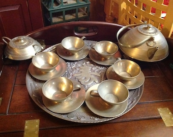 Brass Tea Set