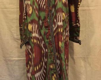 uzbek ikat Kaftan robe clothing