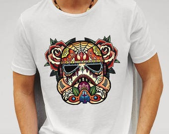 Mens Storm Trooper Sugar Skull - White T-shirt