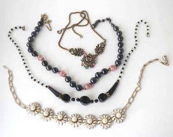 Clean Wearable Vintage Four Necklace Lot