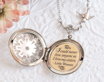 Sister Necklace Sister Gift Little Women Quote Gift for Sister Sister Jewelry Sister Wedding Gift Bridesmaid Gift Bridesmaid Necklace