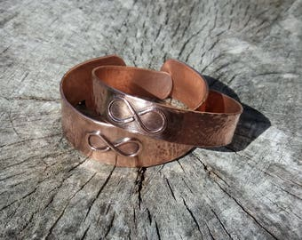 Couples Infinity Bracelets / Cuffs by Copper illuminate.