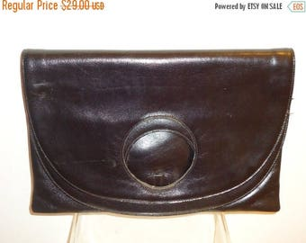 50% OFF Beautiful Black Leather Vintage Clutch