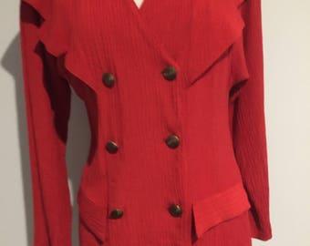 1980'S CUE AUSTRALIAN Vintage Red Jacket - Top