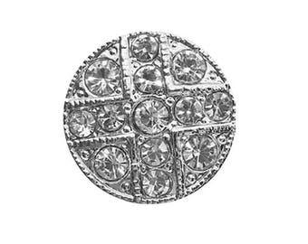 20 mm Diamond rhinestone button
