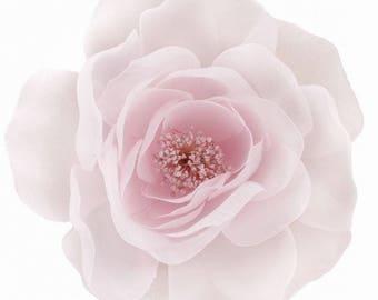 Pale pink organza flower